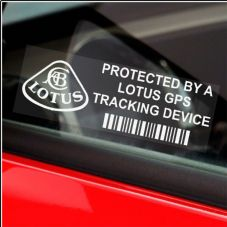5 x LOTUS GPS Tracking Device Security WINDOW Stickers-87x30mm-Elise Car,Van Alarm Tracker